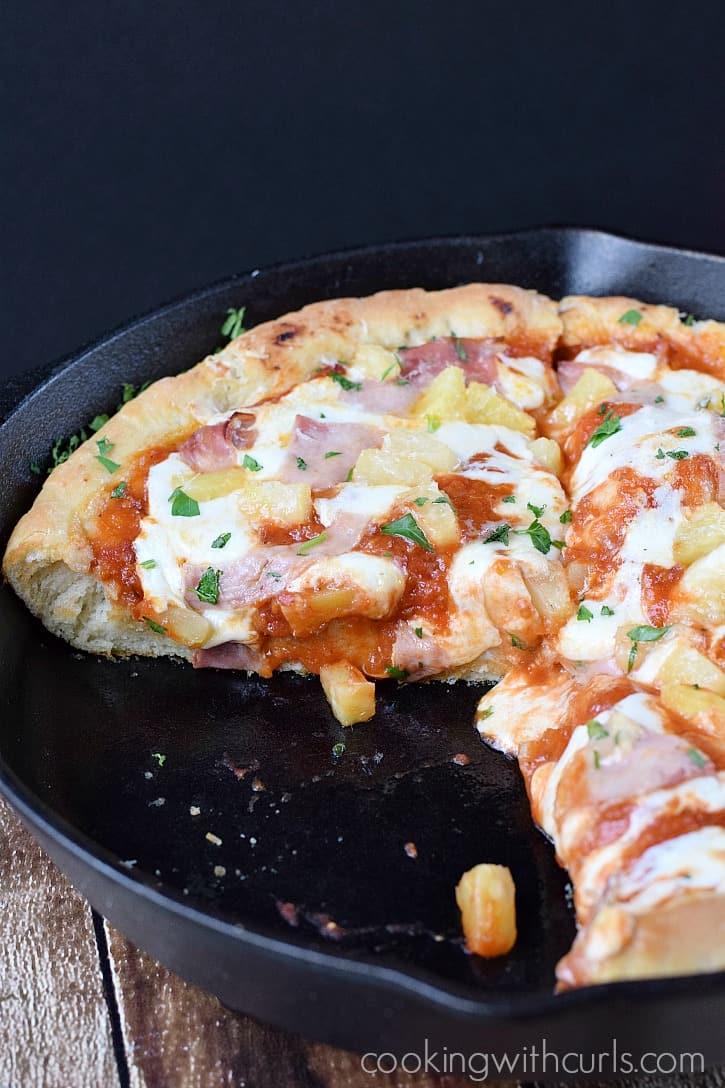 Deep Dish Hawaiian Pizza Cooking With Curls