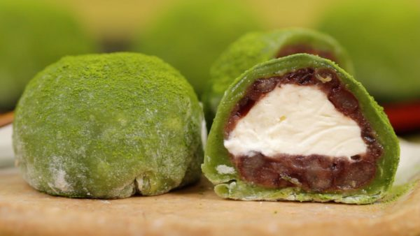 Matcha Cream Daifuku Recipe (Green Tea Mochi Dessert