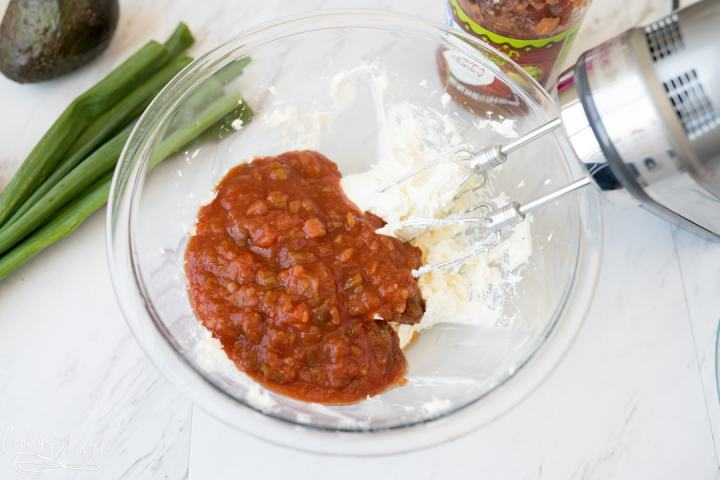 cream cheese and salsa