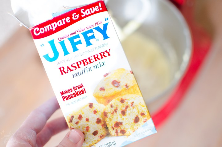 Jiffy muffin mix for the raspberry cheesecake cookies