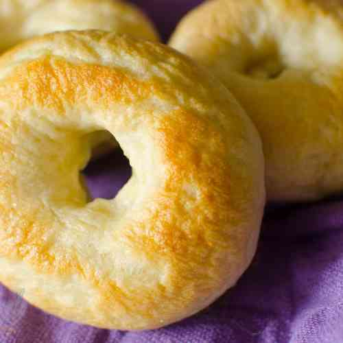 Quick & Easy Plain Bagel recipe will make you never want to buy a store bought bagel again! These are so simple and freeze well for a quick, filling breakfast!