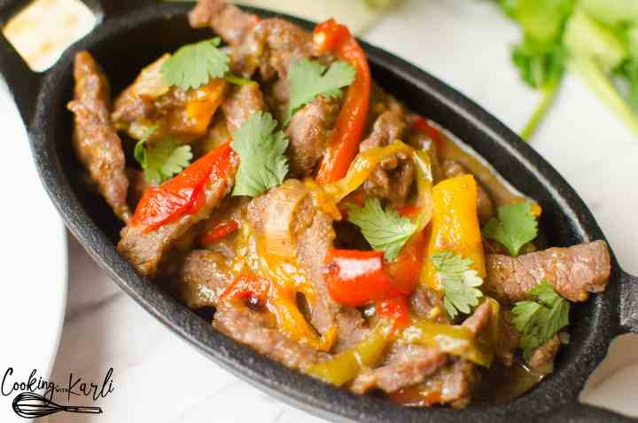 Instant Pot Steak Fajitas are done in less than 15 minutes! The steak strips, peppers and onions explode with flavor! This is an easy meal for a busy week night.