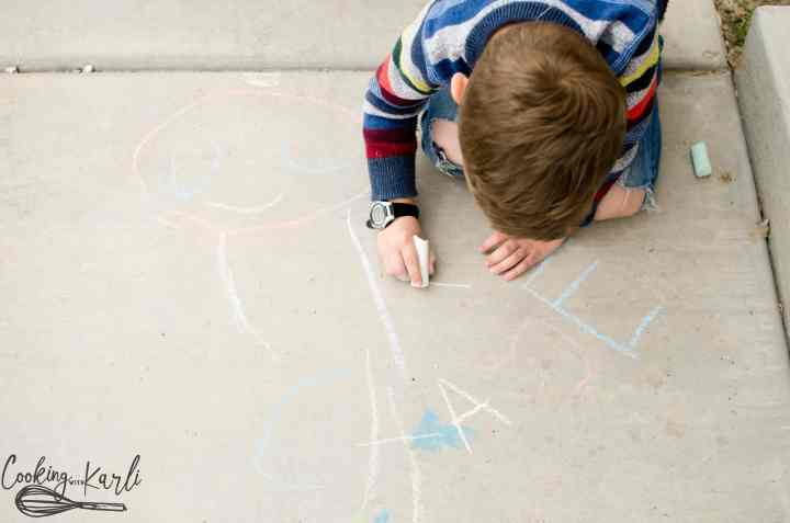 Sidewalk Chalk is a great inexpensive activity for kids of all ages.