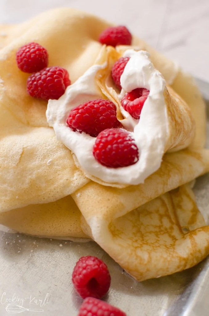 Crepes made from pancake mix