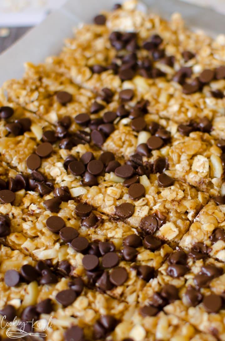 chocolate chip peanut butter granola bar