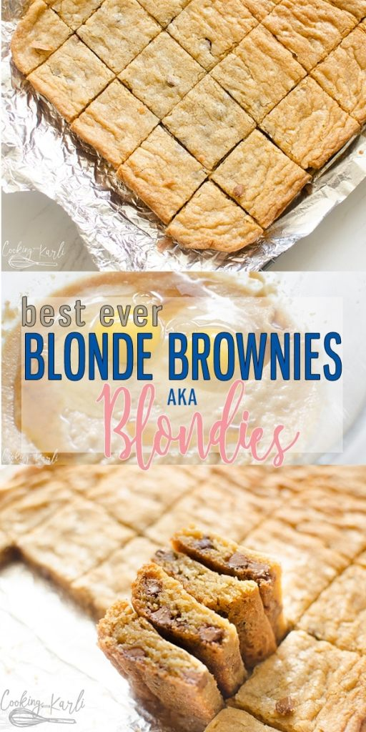 Blonde Brownie Recipe Cooking With Karli