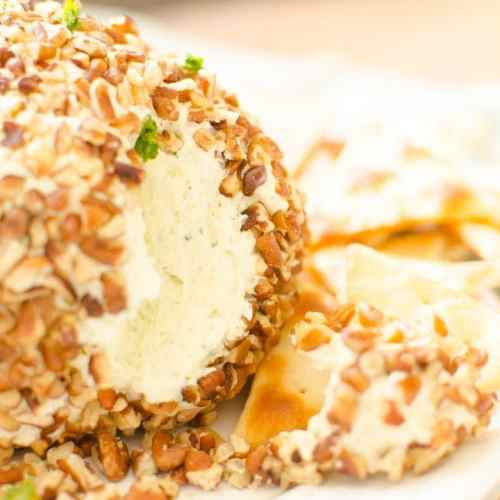 cheeseball with ranch and parmesan cheese