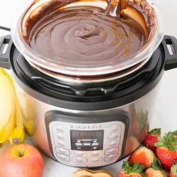 chocolate fondue made in the Instant Pot