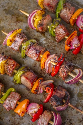 Spicy Marinated Tri-Tip Beef Kebabs For A Crowd – Unsophisticook