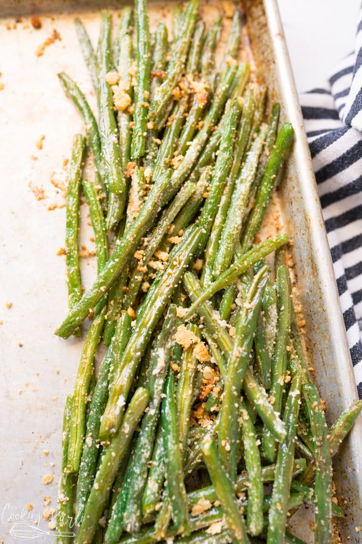 Oven roasted green beans, how to make them, final shot