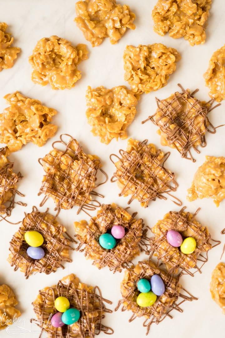 Bird's Nest Cookies process shot