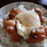 Chicken Teriyaki and Poached Egg Rice Bowl