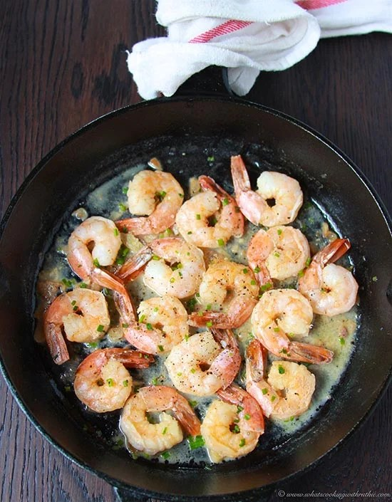 Garlic Chive Shrimp Cooking With Ruthie