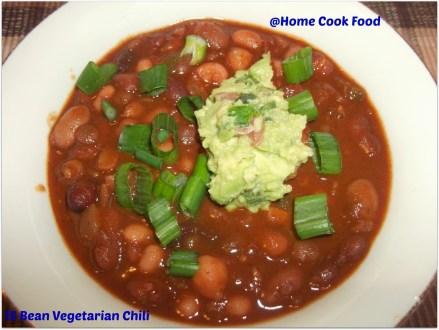 15 beans vegetarian chilli