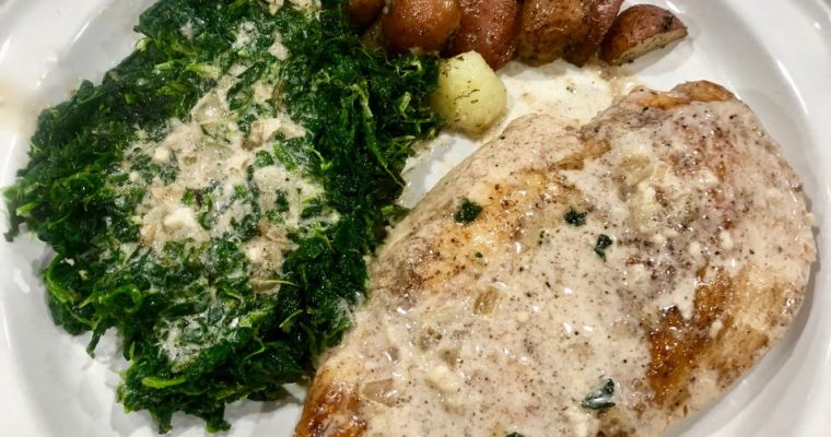 Chicken Florentine with Little Red Potatoes