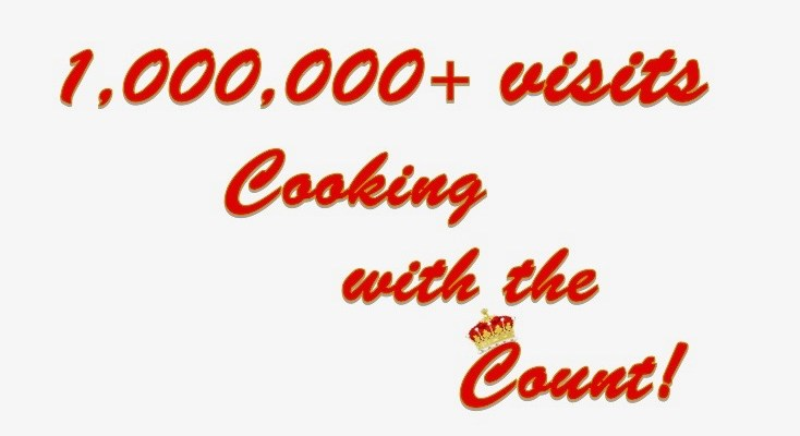 1,000,000+ visitor to Cooking with the Count!