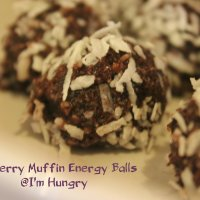 Blueberry Muffin Energy Balls (Vegan, Gluten Free)