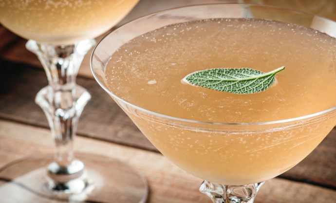 Pear, Sage and Peppercorn Martini