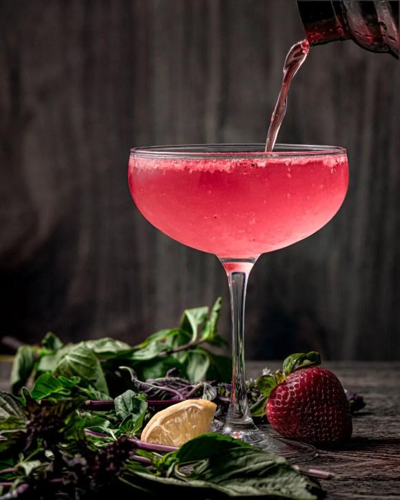 Strawberry Basil Pink Martini