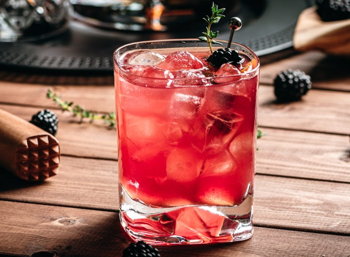 Blackberry Thyme Old Fashioned