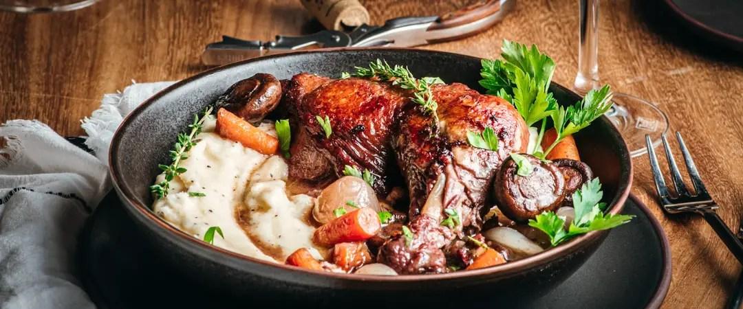 Coq au Vin - Chicken in Red Wine