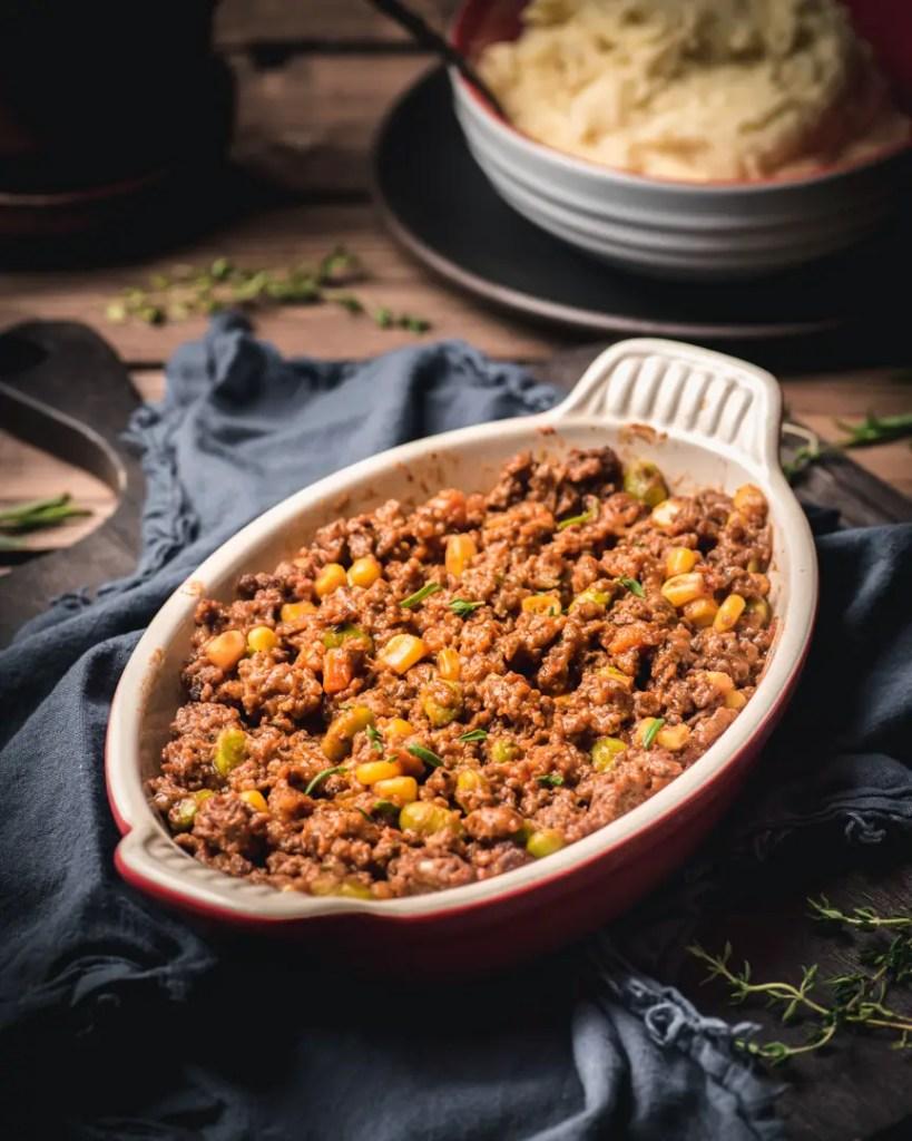 Veal and Beef Shepherd's Pie filling