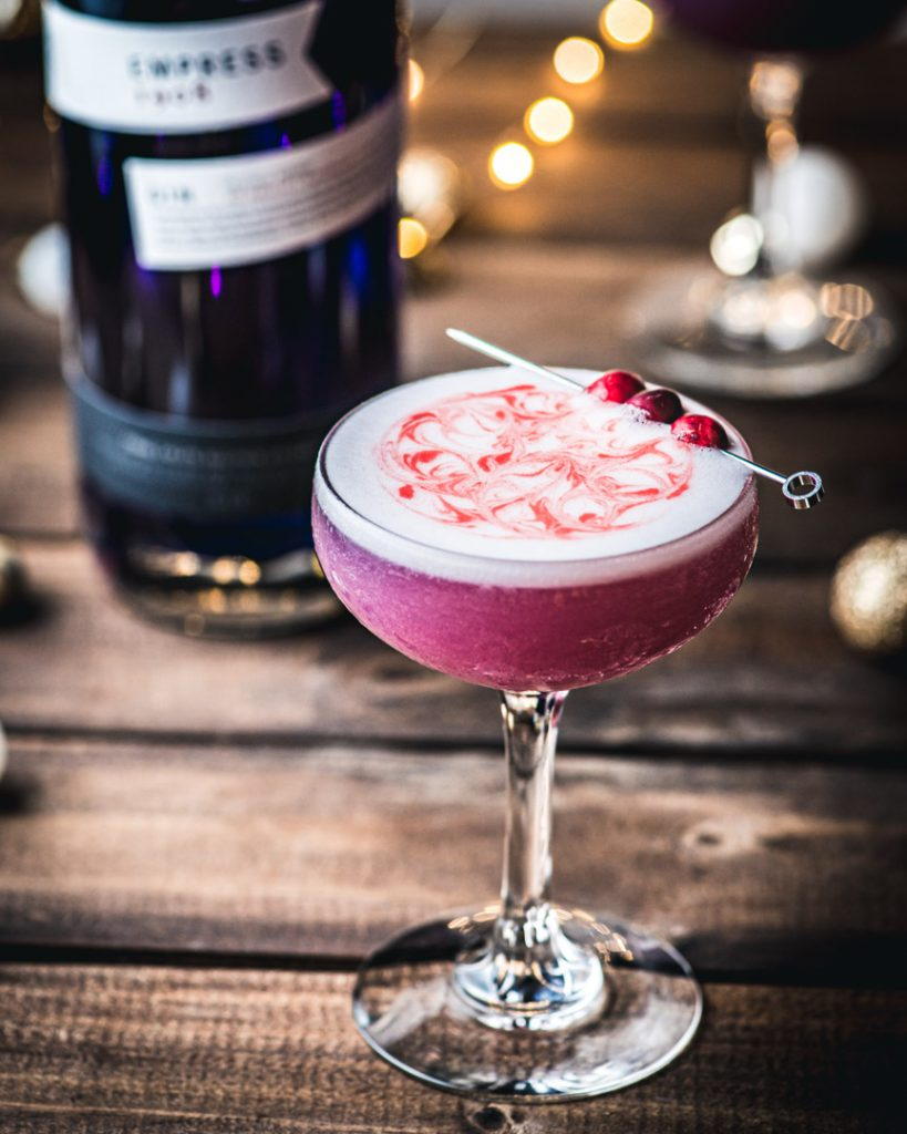 Frosted Cranberry Empress Gin Cocktail