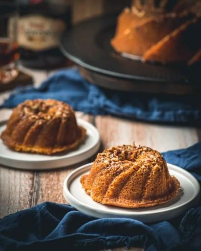 Rum cake in mini bundt pans