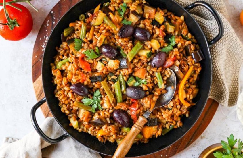 Gemüse-Dinkel-Paella