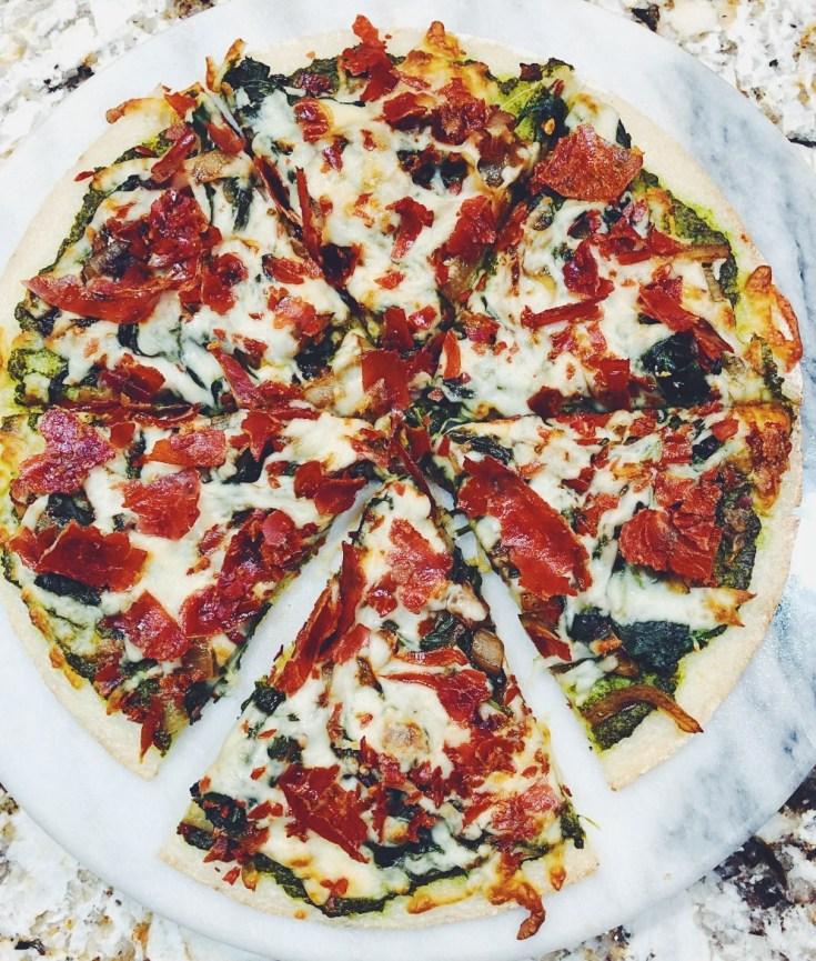 RECIPE   The Spicy Cauli Proscuitto Pizza   CookIthealthier.com