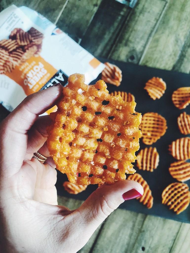 How To Make: Alexia Sweet Potato Waffle Fry Nachos   STEP 1