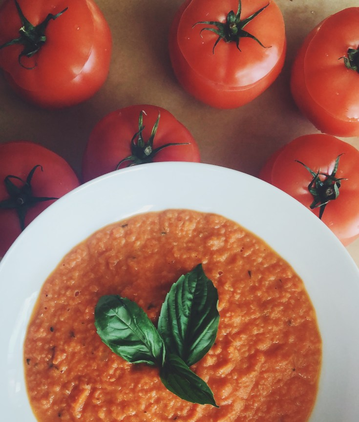 RECIPE | Creamy Roasted Tomato-Basil Soup | Cookithealthier.com