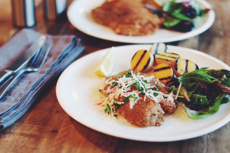 Recipe | Crispy Pan Fried Tilapia with Lemon-Butter Beurre Blanc Sauce | CookItHealthier.com