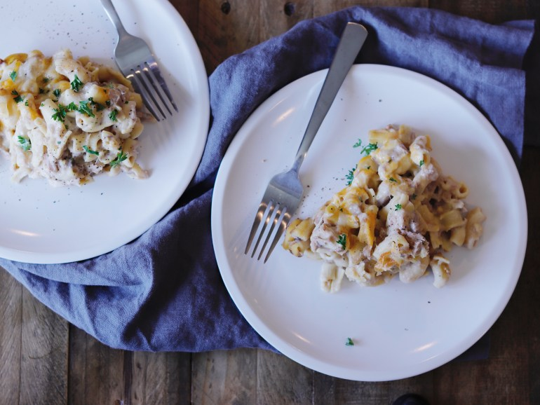 RECIPE | Healthy Tuna Noodle Casserole | Cookithealthier.com