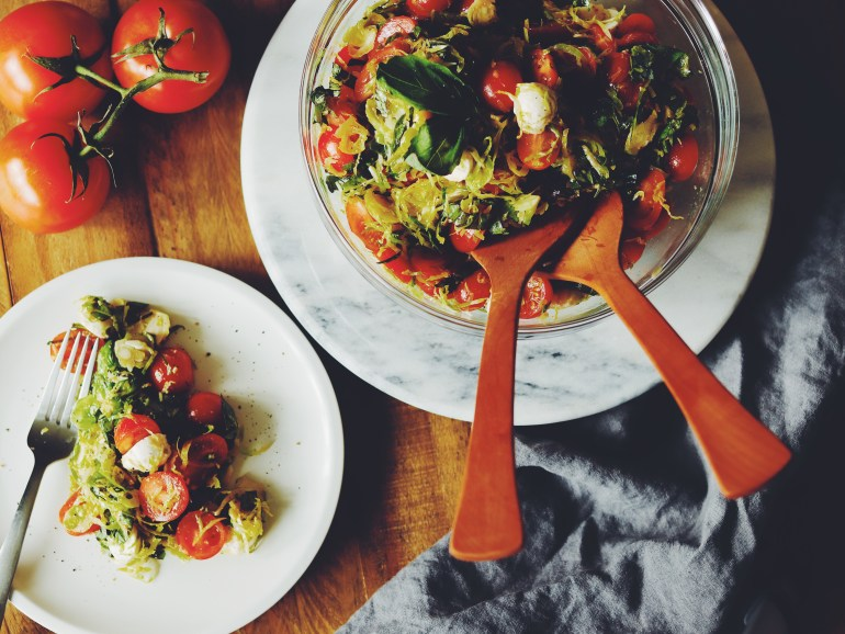 Recipe | Shaved Brussel Sprout Caprese Salad