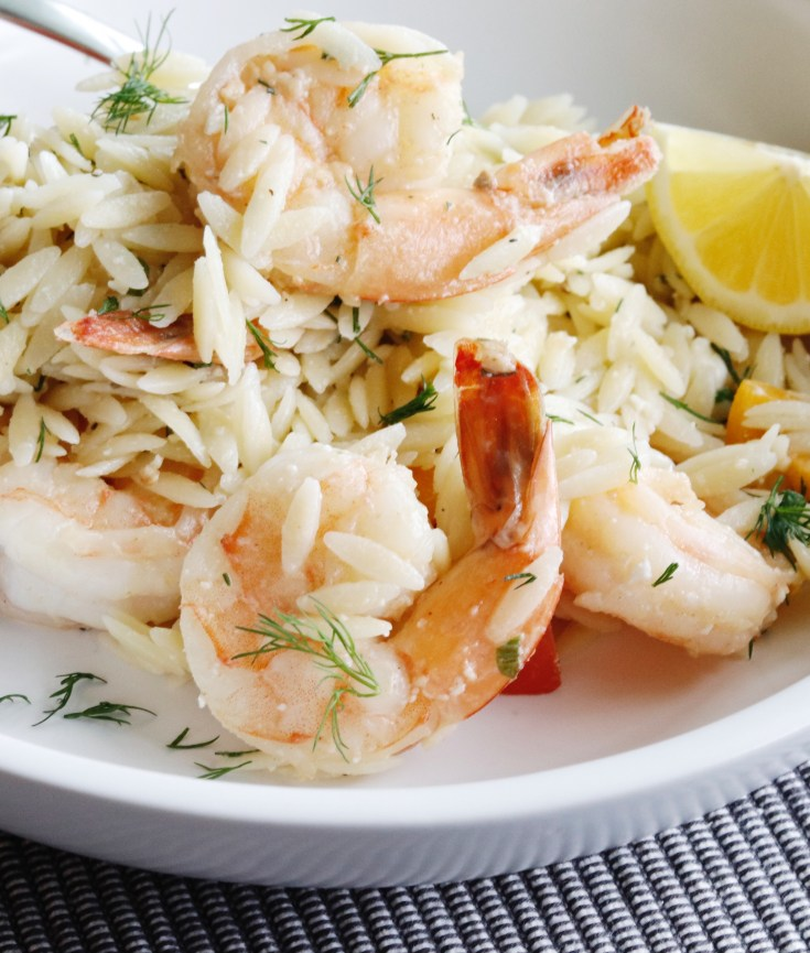 Recipe | Spring Herb Orzo Salad with Shrimp | cookithealthier.com