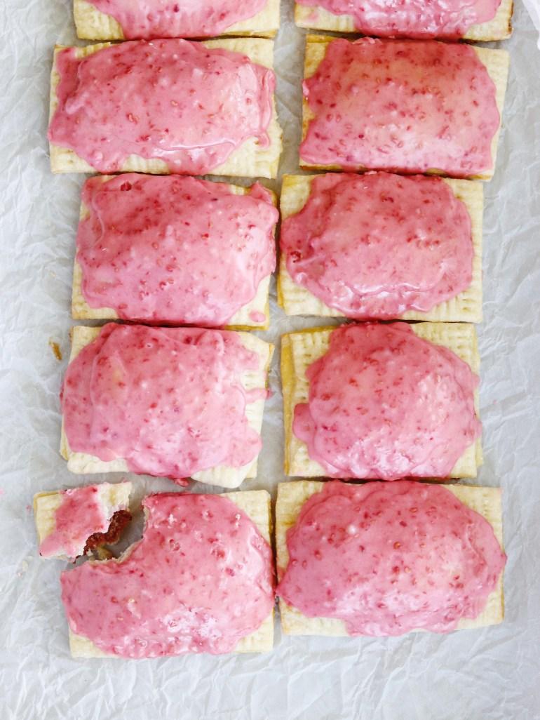 Recipe | Healthy Homemade Raspberry Poptarts | cookithealthier.com