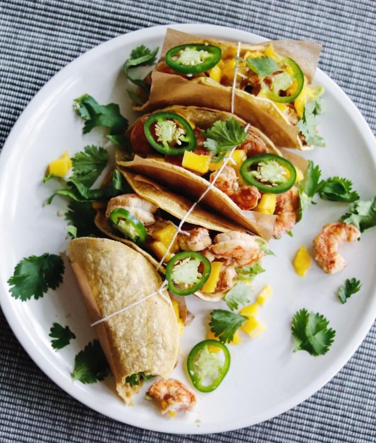 Recipe | Tequila-Lime Shrimp Tacos | cookithealthier.com