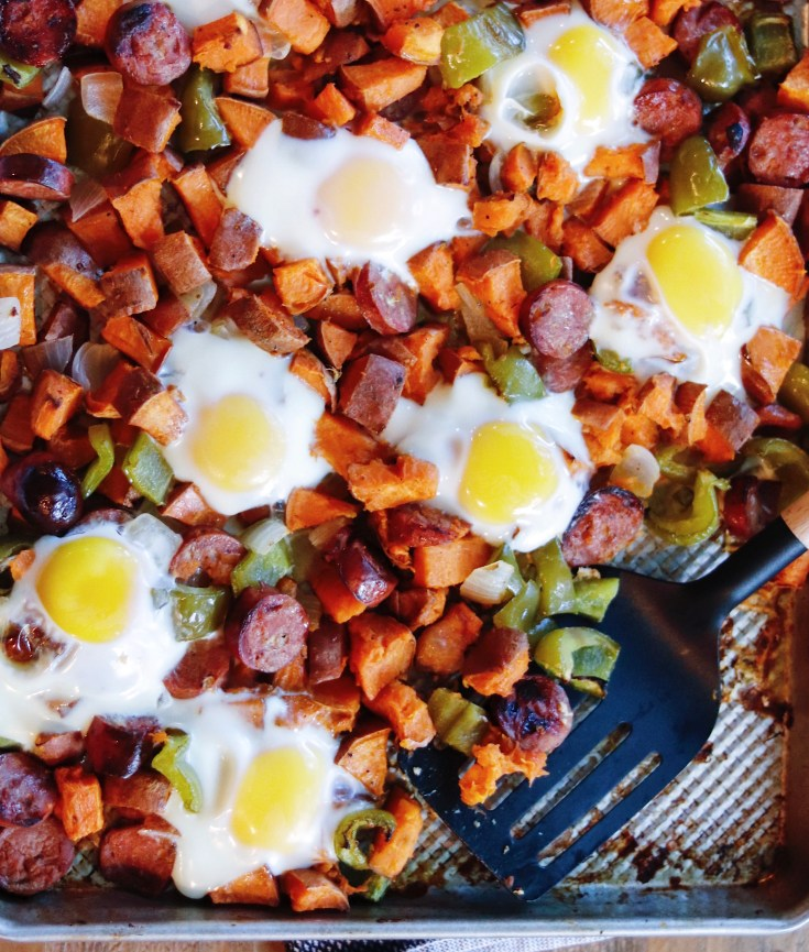 RECIPE | One Pan Protein Hash with Sweet Potatoes | Cookithealthier.com