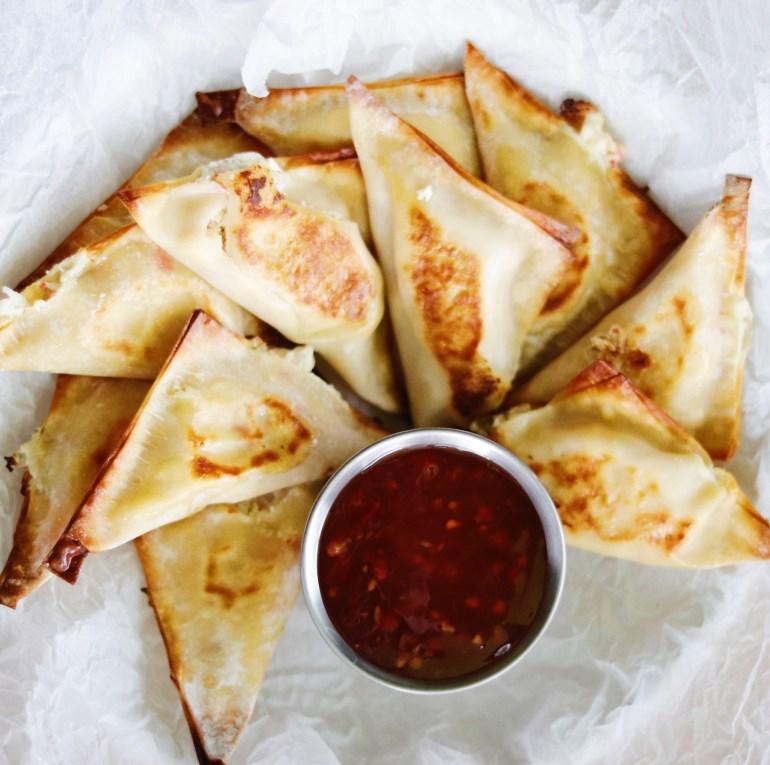 Recipe | Skinny Crab Rangoons | cookithealthier.com