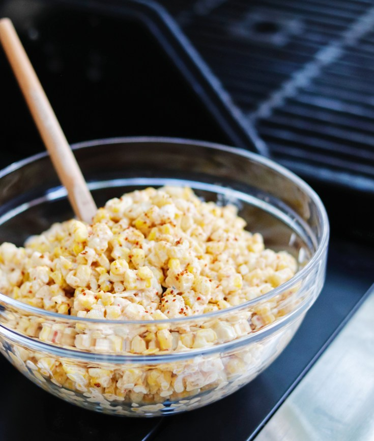 RECIPE | Grilled Street Corn - the best backyard BBQ side dish | cookithealthier.com