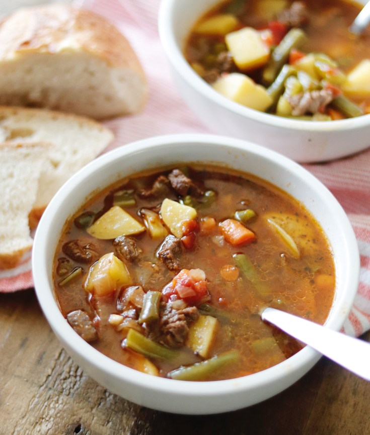 RECIPE | The Most Delicious Vegetable Beef Soup | cookithealthier.com