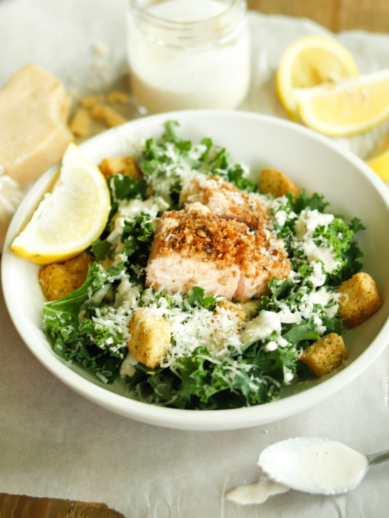 RECIPE | Parmesan Crusted Caesar Salmon | cookithealthier.com