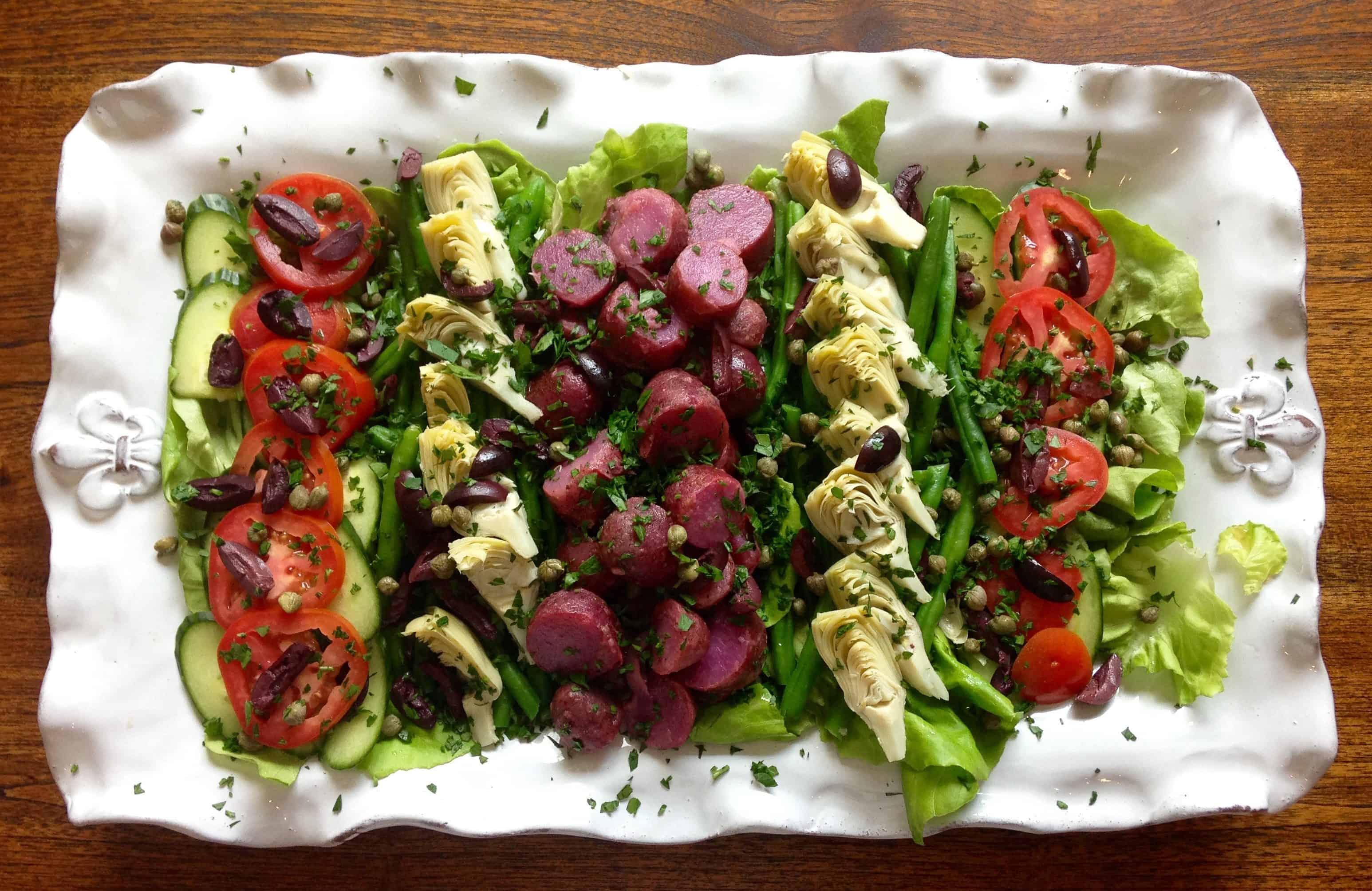 photo of nicoise salad