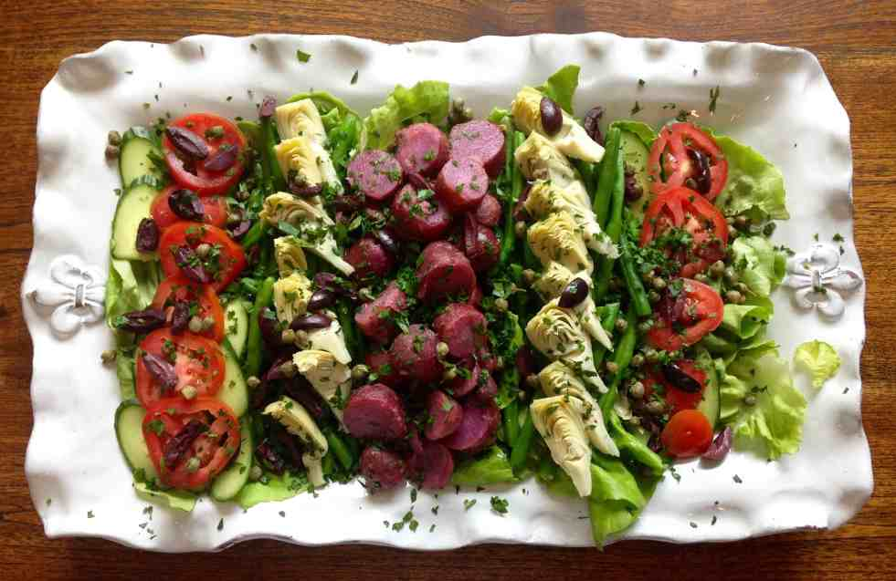 photo of nicoise salad