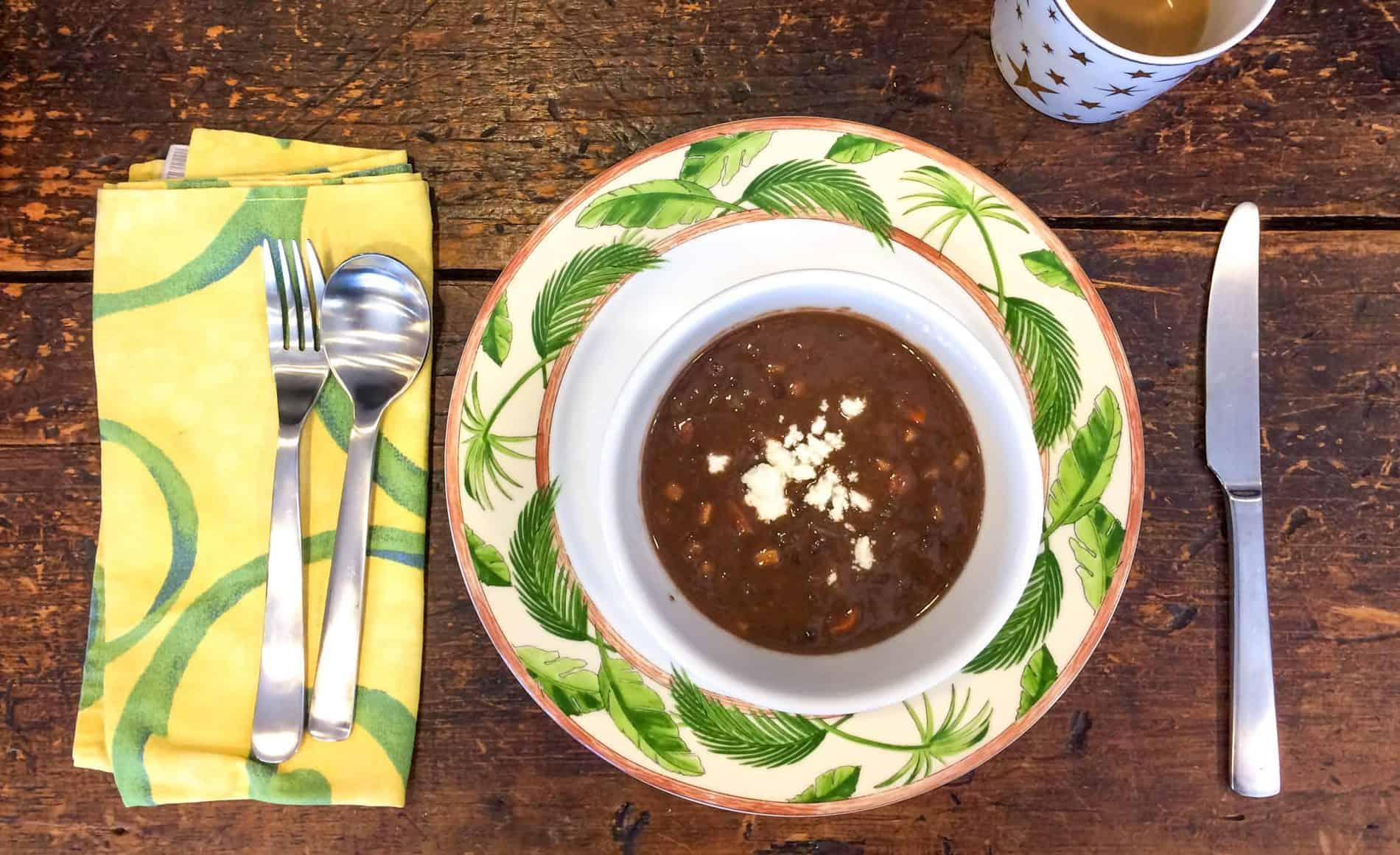 photo of black bean soup