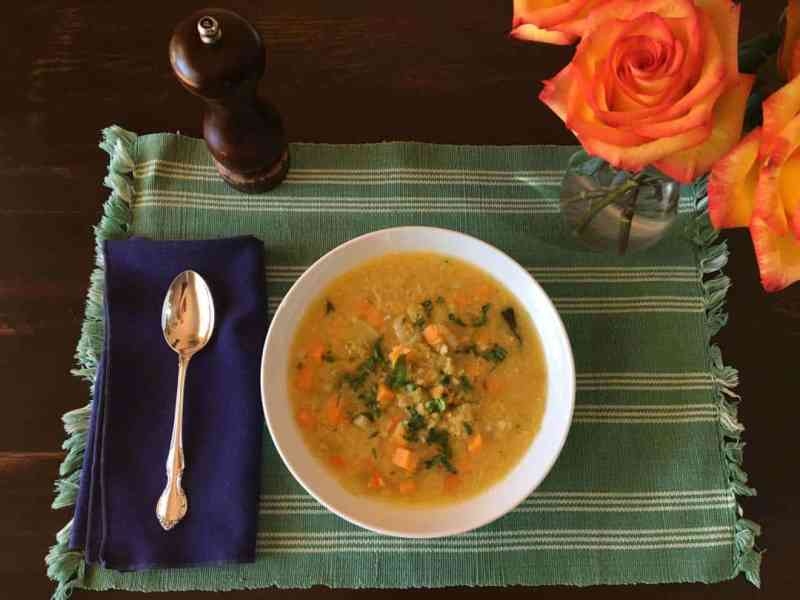 photo of red lentil soup