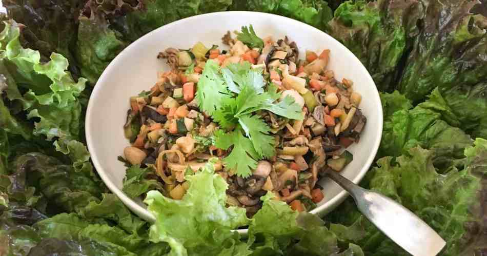 Vietnamese Mushroom Lettuce Wrap •Cook Love Heal by Rachel Zierzow