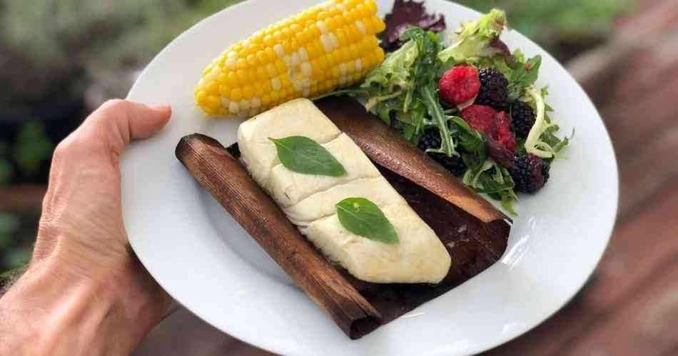 Grilled Halibut in Cedar Wraps • Cook Love Heal by Rachel Zierzow