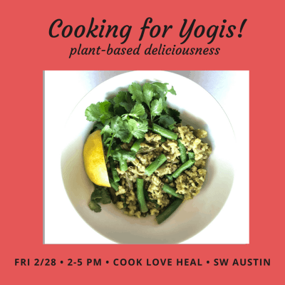 cooking for yogis advertisement